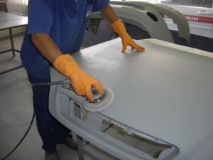 Preparacao da peca para pintura